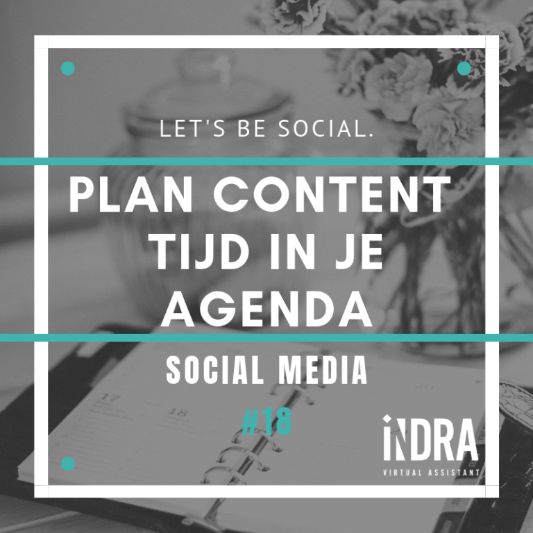 Plan content tijd in je agenda