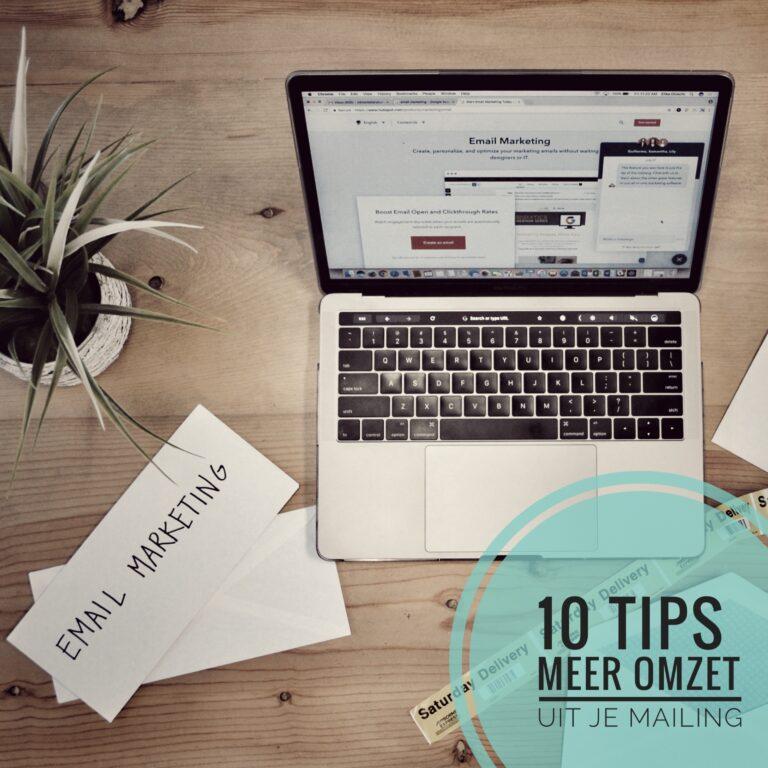 10 tips voor meer omzet uit je mailing
