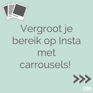 Vergroot je bereik op Instagram met carrousels